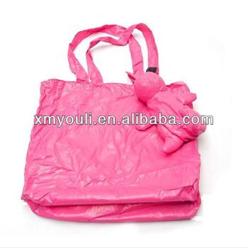rabbit foldable shopping bag polyester