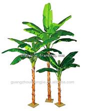 Falso mini árvore com frutas & pot banana plantas