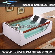 2014 China New Products Massage Modern Bathtub Shower Combo With Air Bubble Light Heater And Control Panel
