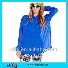 new model fashion chiffon blouse for women in 2014