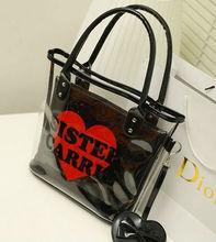PVC Clear Transparent Shoulder Handbag Hand Tote Bag Handbags For Ladies Women Bag in Bag