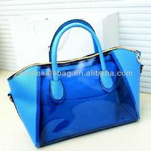 2014 Wholesale PVC Clear Transparent Shoulder Handbag Hand Tote Bag Handbags For Ladies Women Baby Bag in Bag