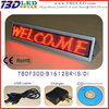 B16128 red triangle commercial led signs/mini programmable led sign