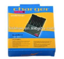 Lustefire Portable F4 bay/slot Intellichage battery charger Multifunctional battery charger Ni-MH/Ni-Cd/aa aaa battery