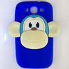 3D Monkey Cute Silicone Cover For Samsung Galaxy S3 I9300 Back Covers