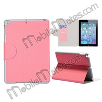 Wholesale Protective Flip Cover Stand Inner PC+Leather Case for iPad Air/iPad 5 With Credit Card Slots with Factory Price
