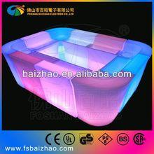 colorful led long bench/led sofa lighting