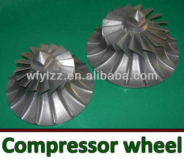 Turbo turbine wheel/turbo compressor wheel