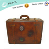 Vintage Leather Luggage Retro Leather Suitcase Vintage Travel Suitcase Leather Tan Old fashion Trolley Luggage Suitcase -HB-070