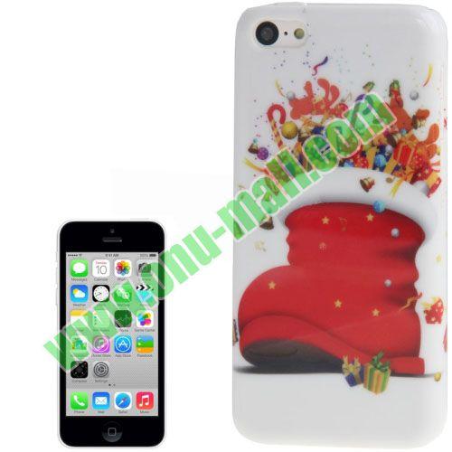 2013 Christmas Socks Plastic Case for iPhone 5C