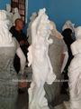 escultura de mujer desnuda