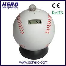 digital baseball shape novelty money tins
