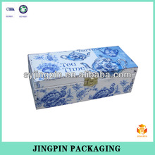 customized oil painting decoration tea box