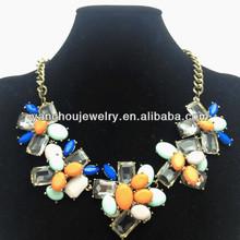 Fashion multi color bridal necklace 2014