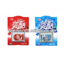 Dissolvable instantly fruity breath strips energy mints VC-F031