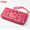 PU Leather Wallet Rose Ladies Name Brand Purses Wholesale