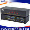 4 Way Port VGA Video LCD Monitor vga Splitter Switch Box Black