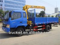 3ton 4x2 mini telescopic boom truck mounted crane