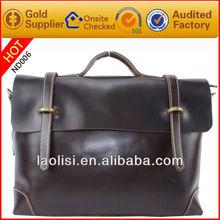 Mens elegant business bag executive leather handbag newest briefcase high quality wholesale bags shoulder bag made in China 2013