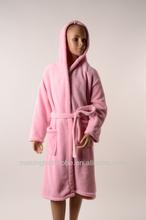 kids microfiber bathrobe coral fleece
