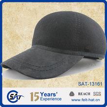 Unisex Black 100% wool felt polo hats