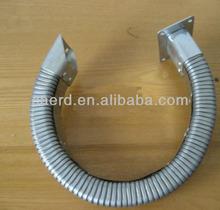 Rectangular metal hose for mechanical