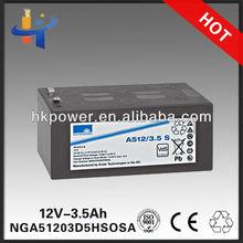 12v 3ah mf motorcycle battery sonnenschein A512/3.5 S' sunlight battery NGA51203D5HSOSA