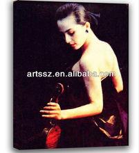 Beautiful half naked girl oil paintings