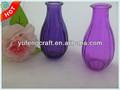 Pequenos vasos de vidro moderna arranjo de flores