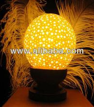 Handmade Ostrich eggs lamps