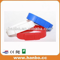 promotional wrist band usb flash memory logo design wholesale