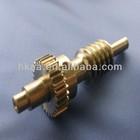 customized brass worm gear shaft brass cluster gear