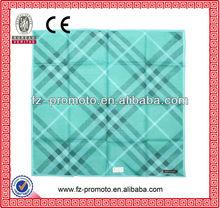 popular design screen printing cotton handkerchief for men using
