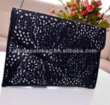 Cheap Wholesale Korean Envelope Hollow Evening Party HandBag HAND CLUTCH BAG