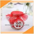 pequenos doces jarra de vidro com tampa