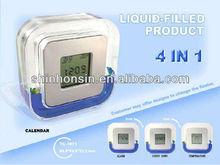 four sided clock,four sided digital alarm clock,4 side clock