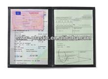 Stitching Leather Car Registration Document Holder