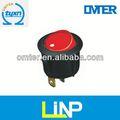 de calidad superior pines 6 lámpara de neón electrónico interruptor basculante