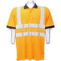 ansi seguridad de alta visibilidad naranja camisa de polo