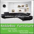 Black canto sofá de couro, sofá de couro real designs#962, antigo sofá de couro