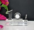 10 ° anniversario ingrosso doni orologio di cristallo