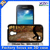 flip case for samsung galaxy s4 mini with 3D image