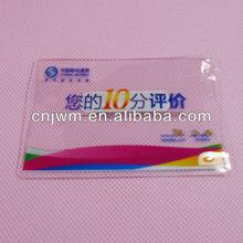 Clear soft pvc id card holder