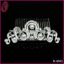 Rhinestones And Crystals Tiara Hair Comb Wedding Decoration