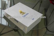 Elegant luxury white paper shopping bag with custom logo