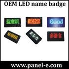 Small scrolling digital led name badge,led name tag
