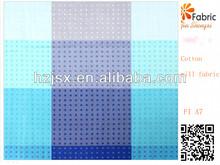 FI A7 100% cotton twill fashion stripe printed bedding fabric for bedding sets