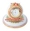 de mármol único reloj con hermosos trabajos de pintura