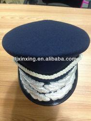 black military hat;military sailor captain caps;ribbon formal military hat;airforce captain hat