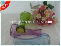 shabby chic glass mini bud vase